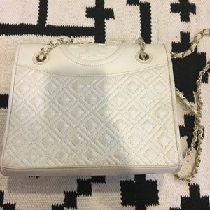 Tory Burch Bags - Tory Burch 'Fleming' white quilted bag